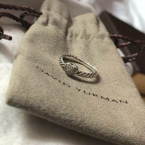 David Yurman Diamond Heart Cable Ring